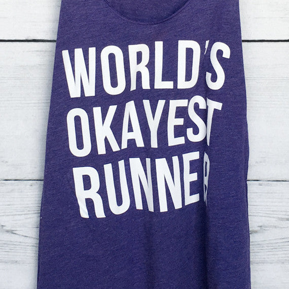 World's Okayest Runner in Purple