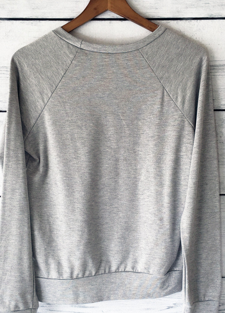 Because Netflix Sweatshirt in Heather Grey