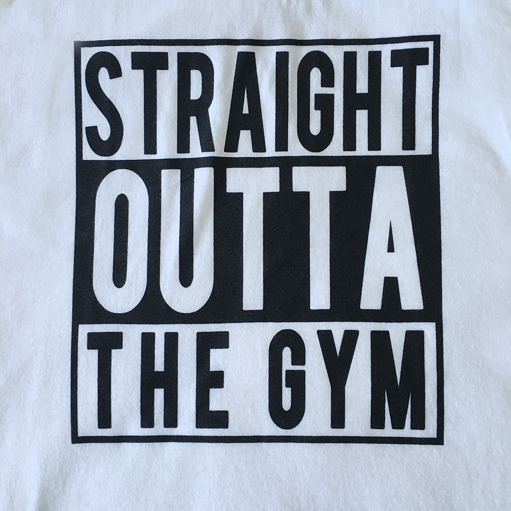 Straight Outta The Gym Tank Top in White