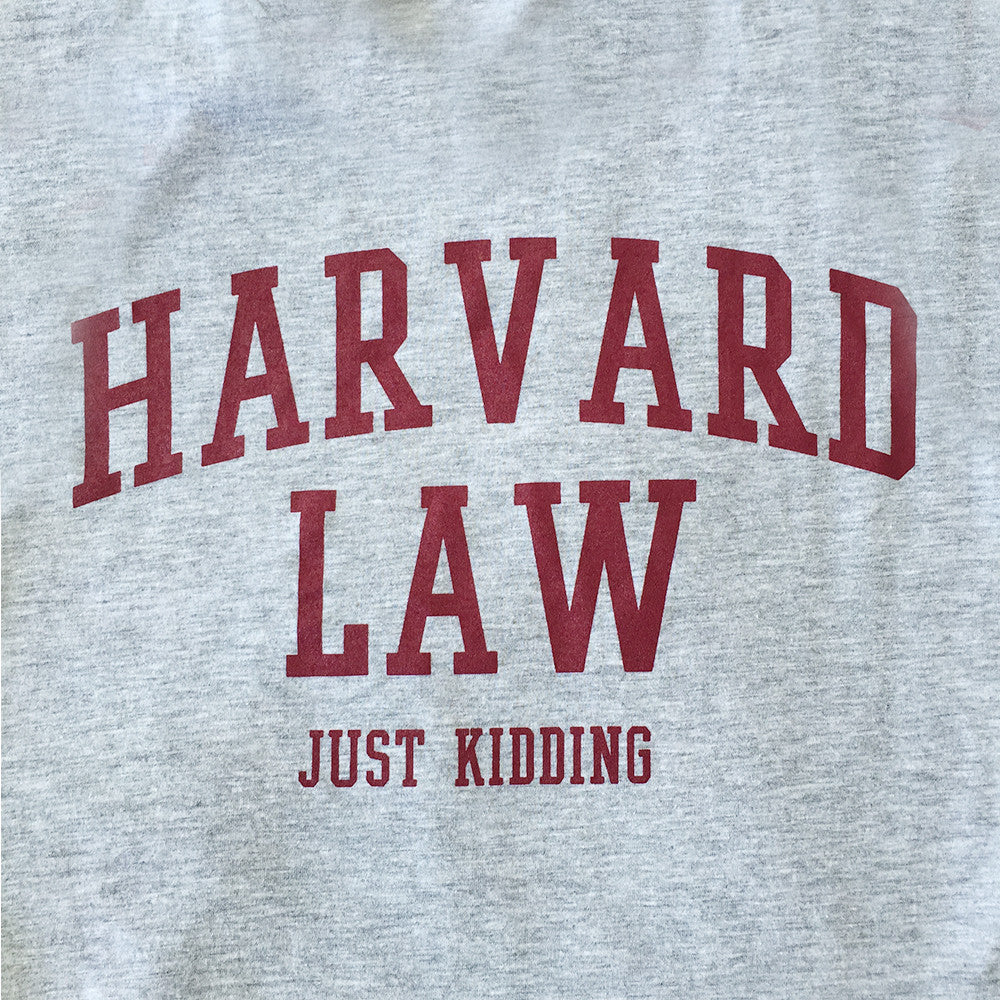 Harvard Law Just Kidding Tank Top in Grey