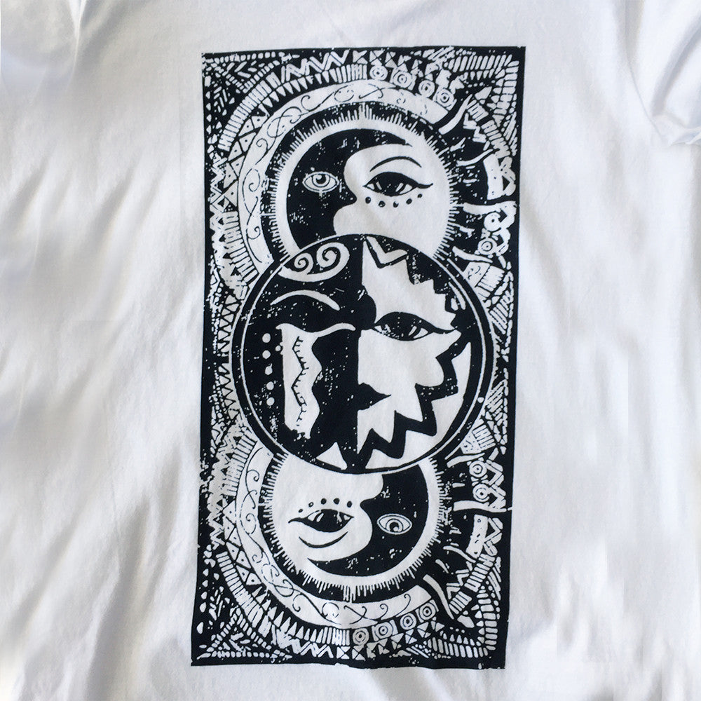 Windweather White Sun Moon T-Shirt