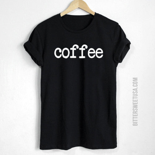 The Original Coffee T-Shirt in Black for Women