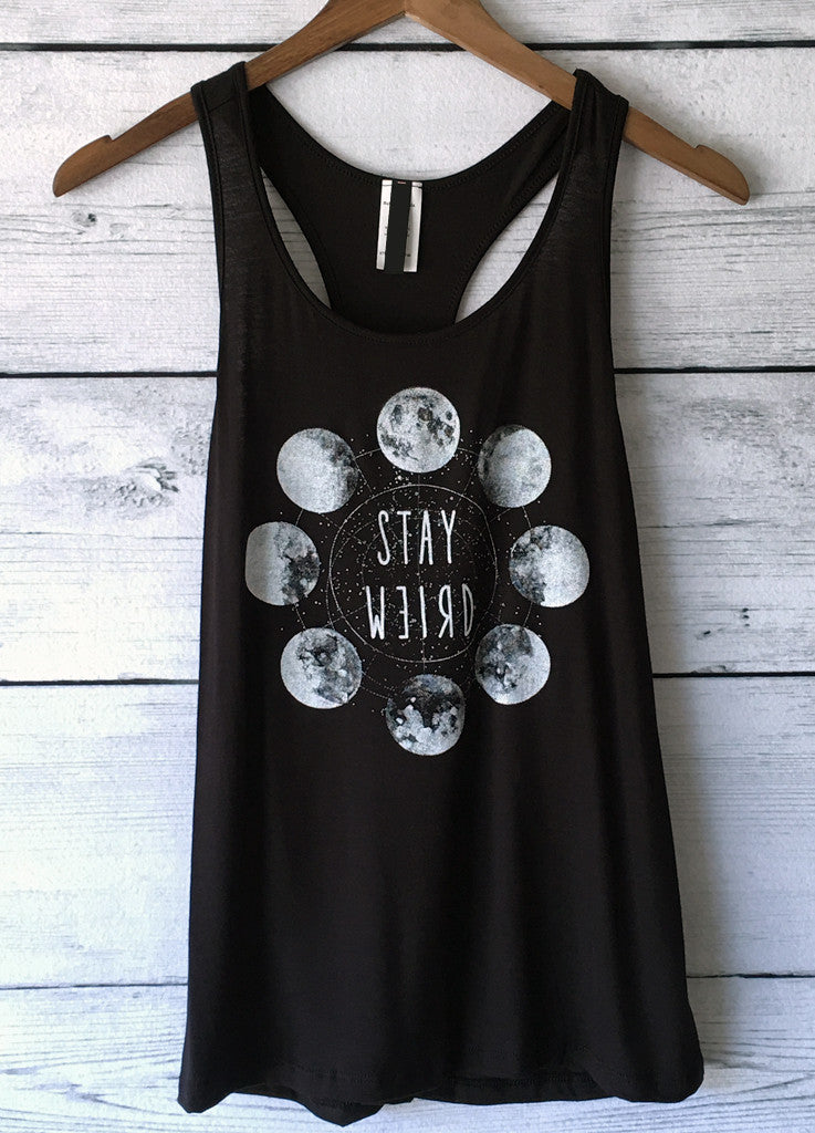 Stay Weird Graphic Tank Top
