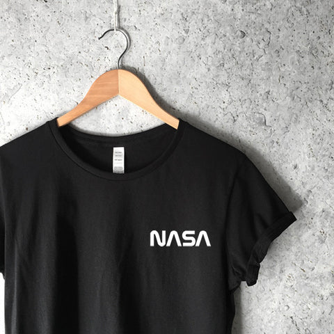 Women's NASA Logo T-Shirt in Black