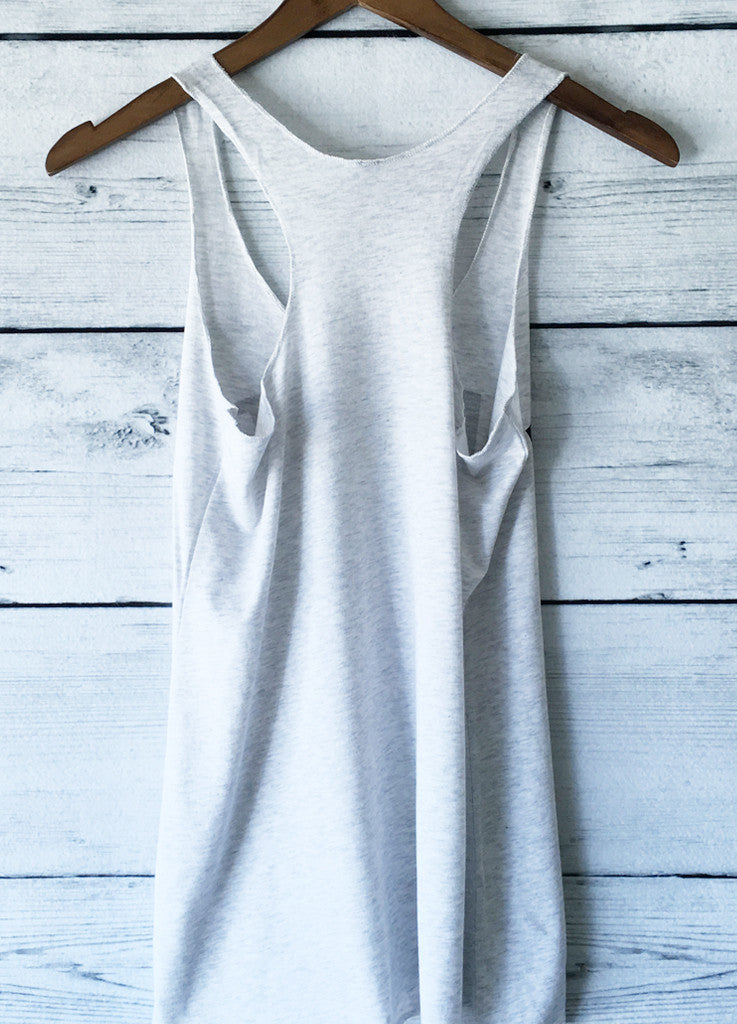 Namaste in Bed Tank Top (Heather White)