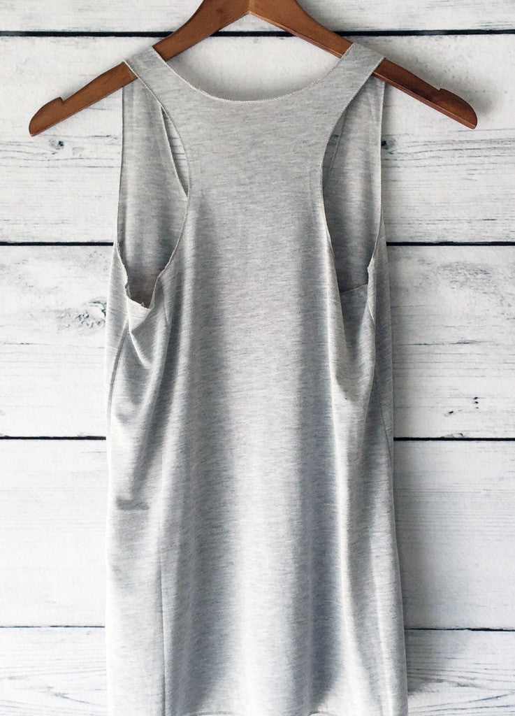 Donuts Graphic Print Tank Top in Grey
