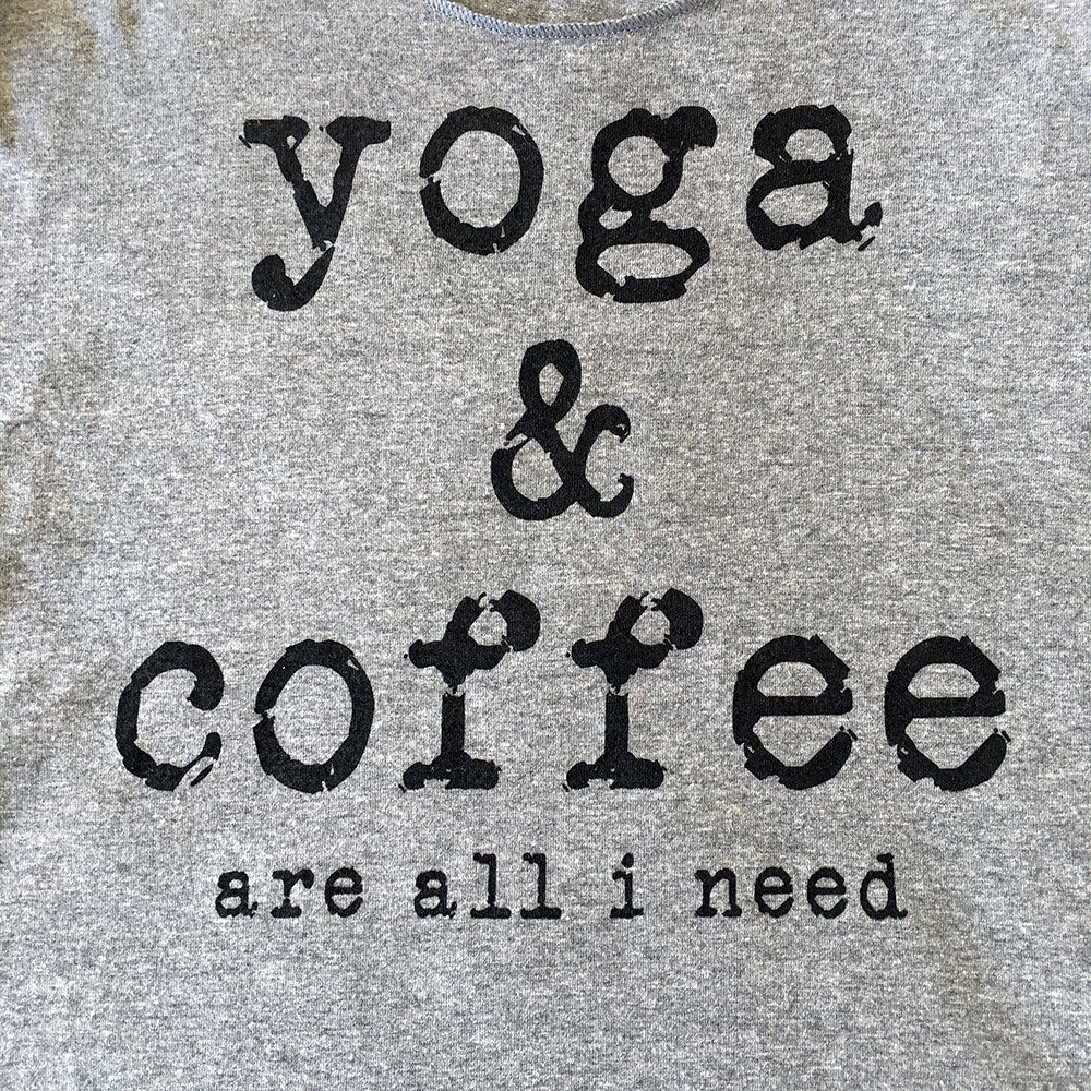 Yoga and Coffee Tank Top in Gray