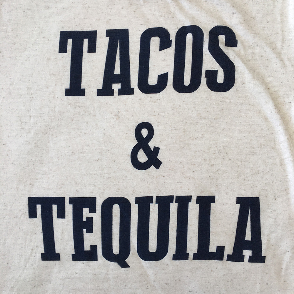 Tacos and Tequila Baseball Ringer Tee