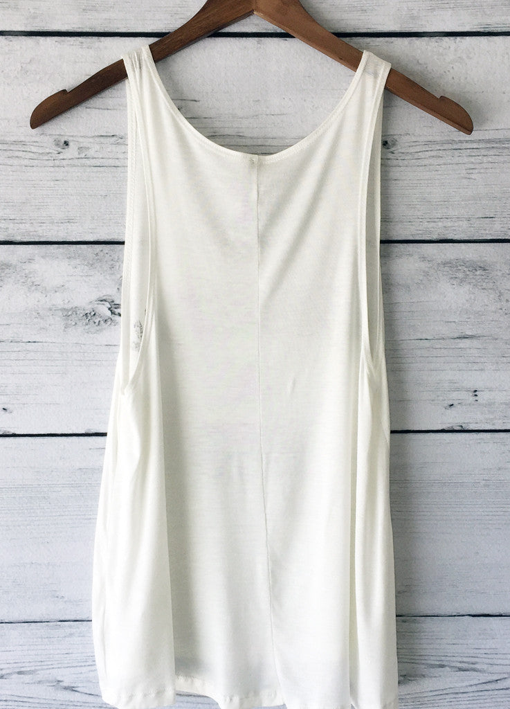 Namast'ay in Bed Tank Top (Ivory)