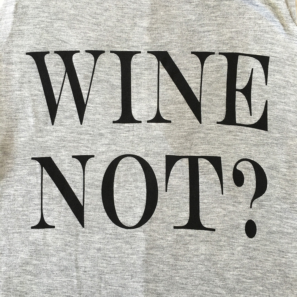 Wine Not Tank Top in Heather Grey