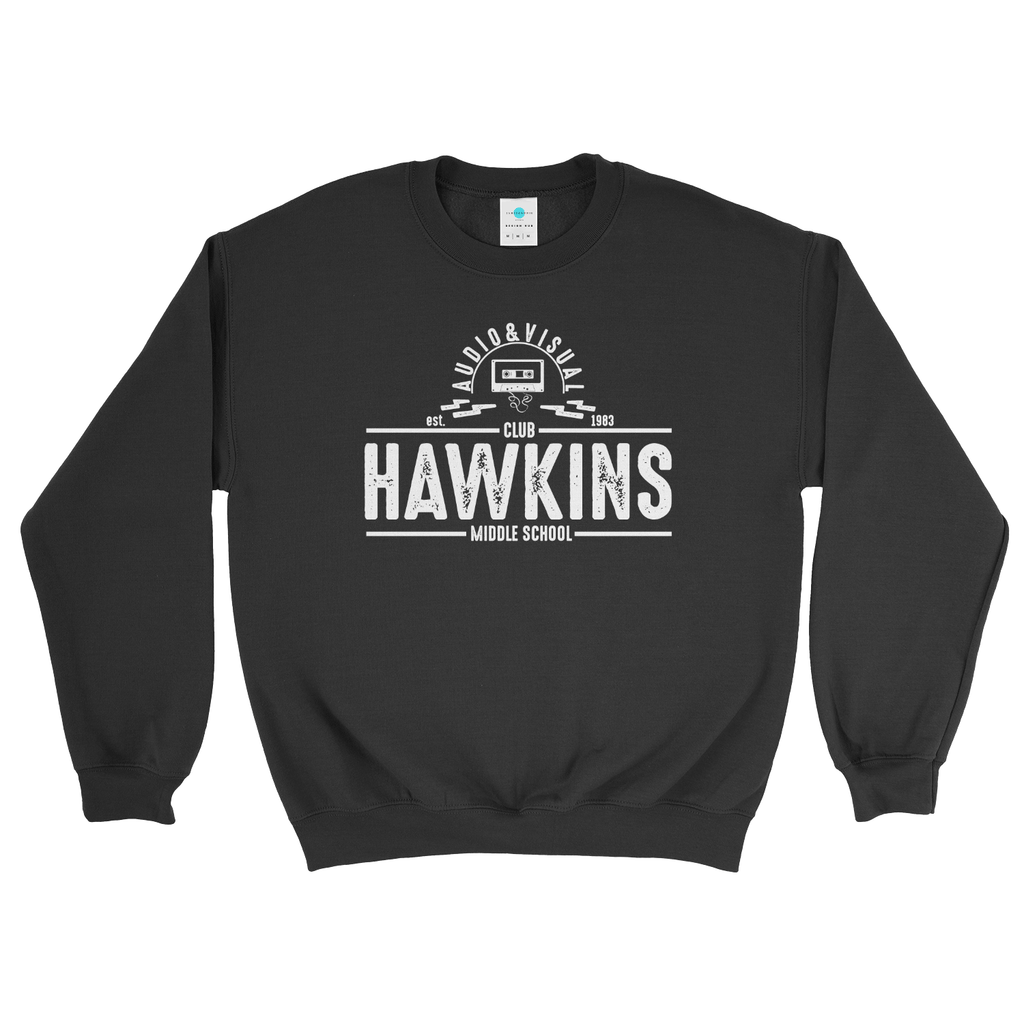 Hawkins Middle School Stranger Things Audio Visual Club Sweatshirt for Women