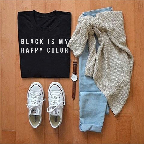 Black is My Happy Color Shirt by Kosmo