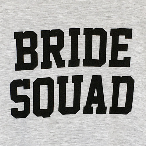Bride Squad Muscle Tee in Gray