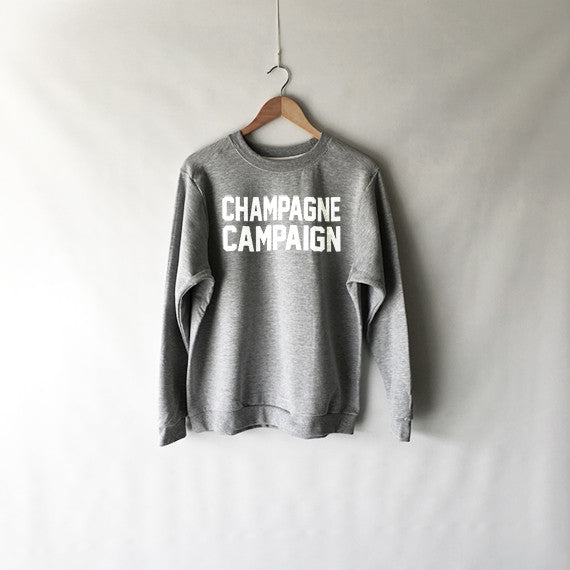 Champagne Campaign Sweatshirt in Grey