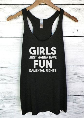 Girls Just Wanna Have Fundamental Rights Tank Top