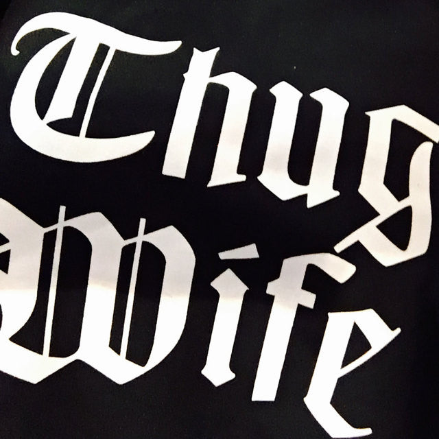 Thug Wife Sweatshirt in Black