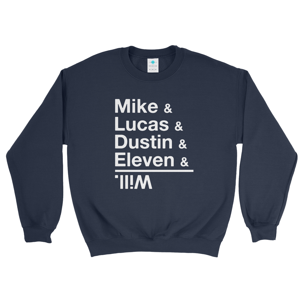 Stranger Things Cast of Characters Names Sweatshirt