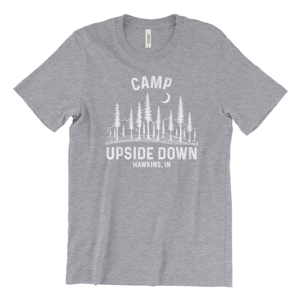 Camp Upside Down Stranger Things T-Shirt for Women