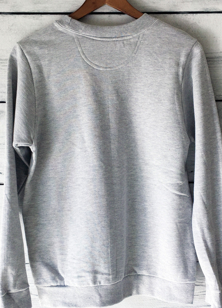 World's Okayest Sister Sweatshirt in Heather Grey