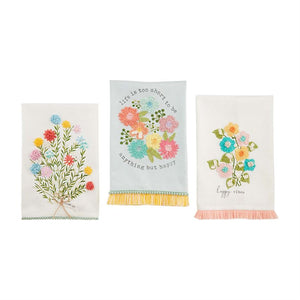 FLORAL EMBROIDERED TOWEL VARIETY