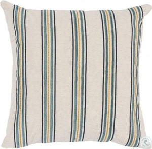SARINA MIST BLUE AND YELLOW STRIPED PILLOW