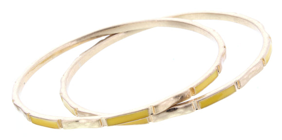 JANE MARIE SET OF 2 BANGLE BRACELETS YELLOW