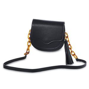 RESIN LINK CROSSBODY - BLACK