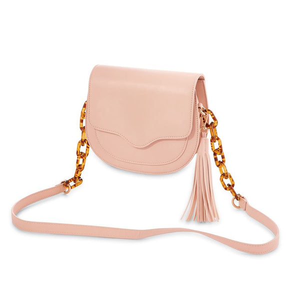 RESIN LINK CROSSBODY - BLUSH