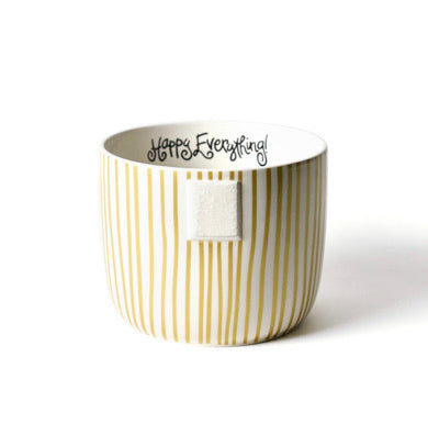 GOLD STRIPE HAPPY EVERYTHING BOWL MINI