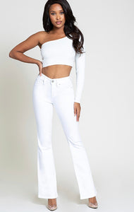 JUNIOR WHITE LUXE LIFT HIGH-RISE FLARE JEAN