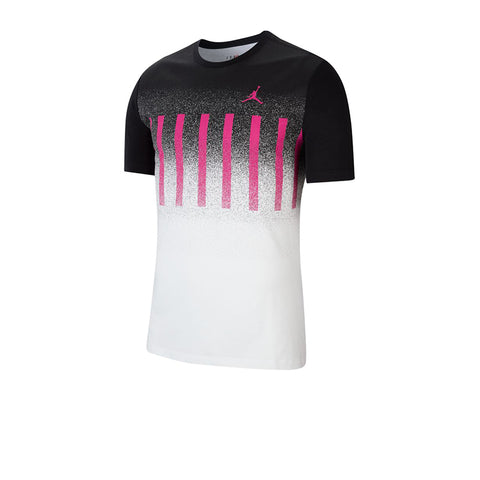 AIR JORDAN MENS GRAPHIC T-SHIRT WHITE-BLACK CJ6292-100