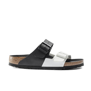 WOMENS BIRKENSTOCK Arizona Split Birko-Flor Black/White 1019703