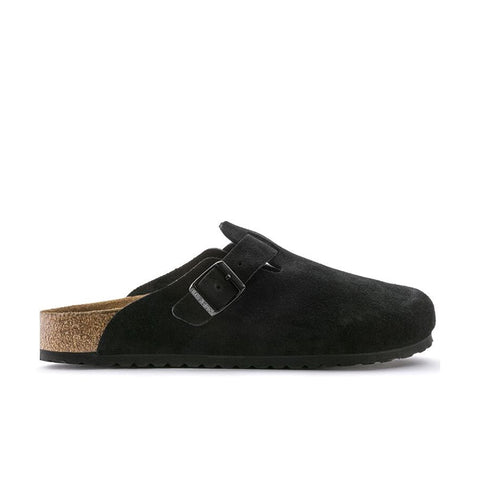 Birkenstock Boston Soft Footbed Black Suede Leather 0660471