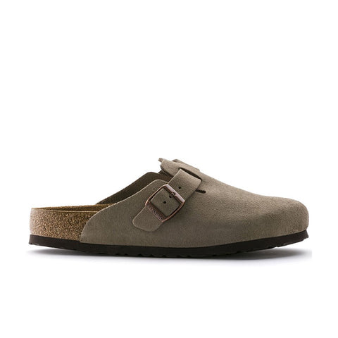 Birkenstock Boston Soft Footbed Taupe Suede Leauther 0560771