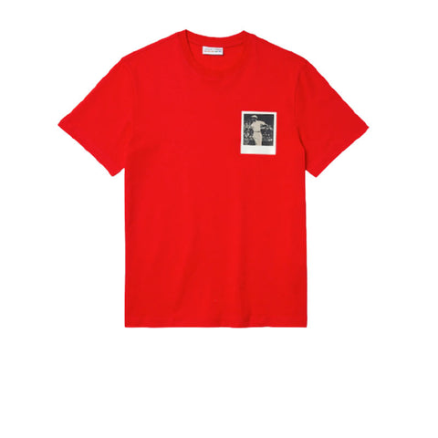 LACOSTE X POLAROID BREATHABLE THERMOSENSITIVE BADGE T-SHIRT RED TH2093-51