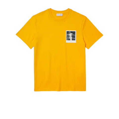 LACOSTE X POLAROID BREATHABLE THERMOSENSITIVE BADGE T-SHIRT YELLOW TH2093-51