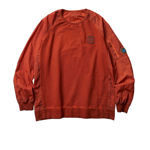 LIBERAIDERS OVERDYED NYLON SLEEVES CREWNECK ORANGE 753022001
