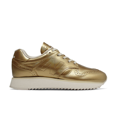 NEW BALANCE RIP SOLE 520 Platform Metallic Gold with Moonbeam WL520MD