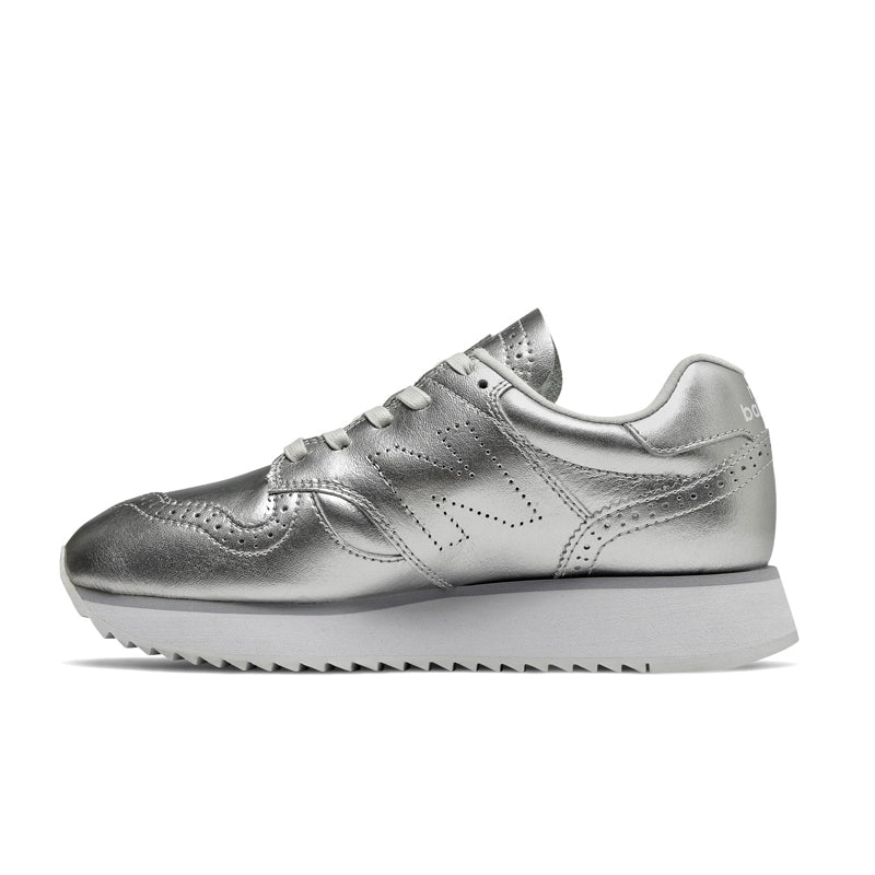 NEW BALANCE RIP SOLE 520 Platform Metallic Silver with Arctic Fox WL520ME