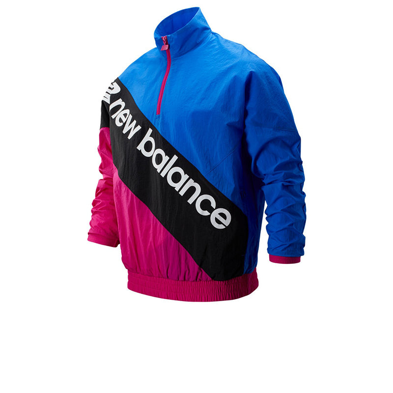 NEW BALANCE SS OPTIKS ANORAK BLUE/PINK MT93579