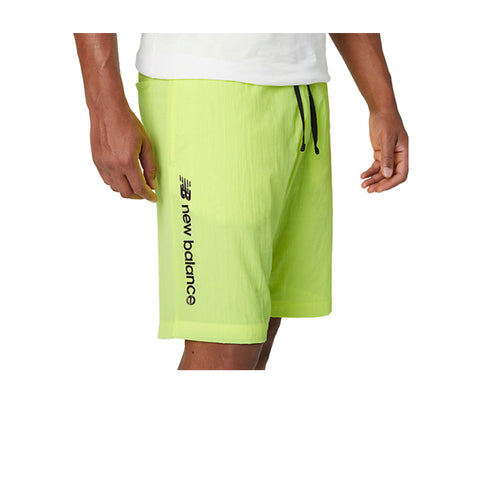 NEW BALANCE Sport Style Optiks Wind Nylon Athletic Shorts NEON MS01508
