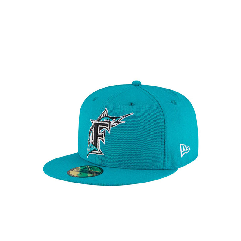 NEWQ ERA 5950 FLORIDA MARLINS TEAL FITED
