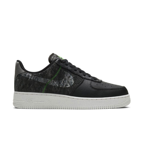 NIKE AIR FORCE 1 '07 LV8 BLACK-CLEAR-ELECTRIC GREEN-LIGHT BONE CV1698-001