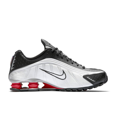NIKE SHOX R4 BLACK/METALLIC SILVER-MAX ORANGE BV1111-008