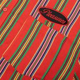 PLEASURES SHORT SLEEVE NAILED BUTTON DOWN RED P21SP002