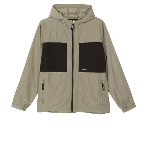 STUSSY BLOCK TECH JACKET KHAKI 115503