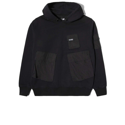 STUSSY CARGO FLEECE HOOD BLACK 218094