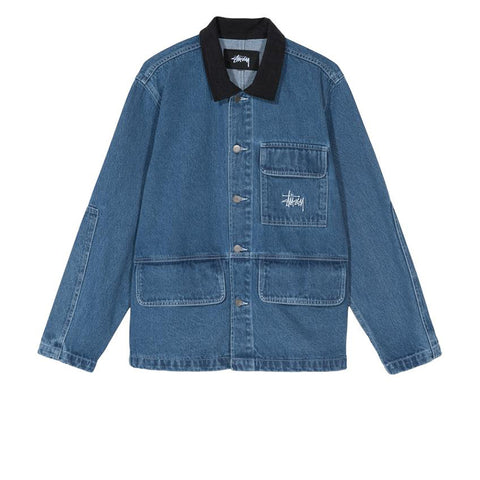 STUSSY DENIM CHORE COAT 115498