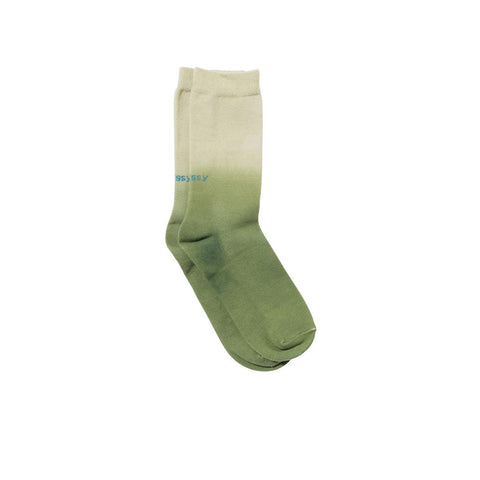 STUSSY DIP DYE EVERYDAY SOCKS GREEN 138677