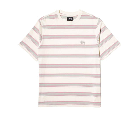 STUSSY HARBOUR STRIPE CREW NATURAL 1140200